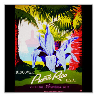 Poster-Vintage Travel-Puerto Rico 2