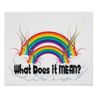 POSTER - WHAT DOES IT MEAN DOUBLE RAINBOW