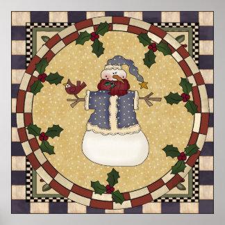 Poster - Winter Dressed Snowman