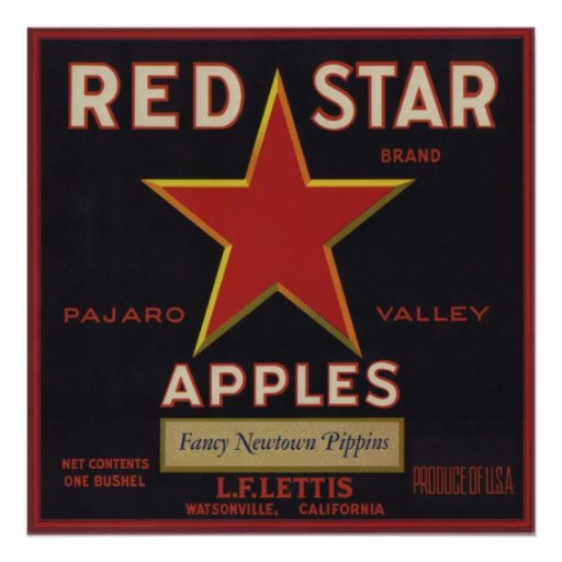 Poster with Cool Vintage Fruit Crate Label Print