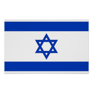 Poster with Flag of Israel