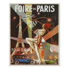 Poster with Paris Art Deco Print from The 1920's
