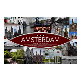 Poster with Scenes from Amsterdam