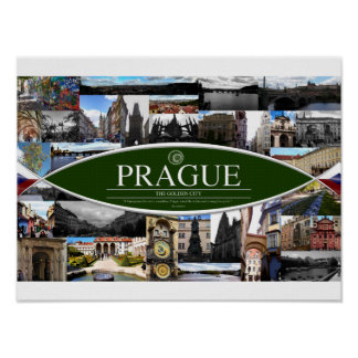 Poster with Scenes from Prague
