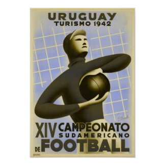 Poster with Vintage Copa de America Soccer Print