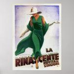Poster with Vintage Italian Fashion Print