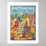 Poster with Vintage San Francisco Motive