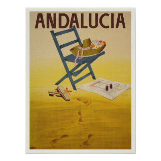 Poster with Vintage Spain Print