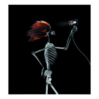 POSTER - X-RAY SKELETON HAIR STYLING ORIGINAL