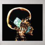 POSTER - X-RAY SKELETON ON PHONE BLK ORIGINAL