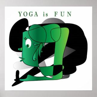 Poster Yoga is Fun
