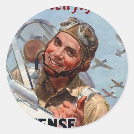 PosterBuy_Fly Round Sticker