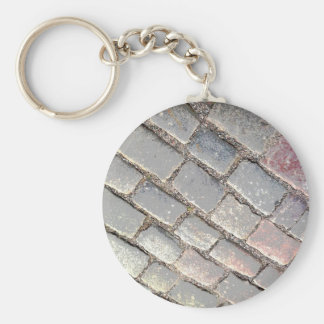 Posterized Cobbles Key Ring