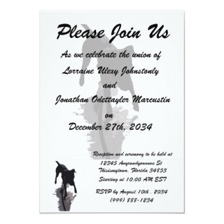 posterized dog and shadow 13 cm x 18 cm invitation card