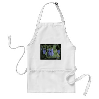 Posterized Purple Plants with Raindrops Apron