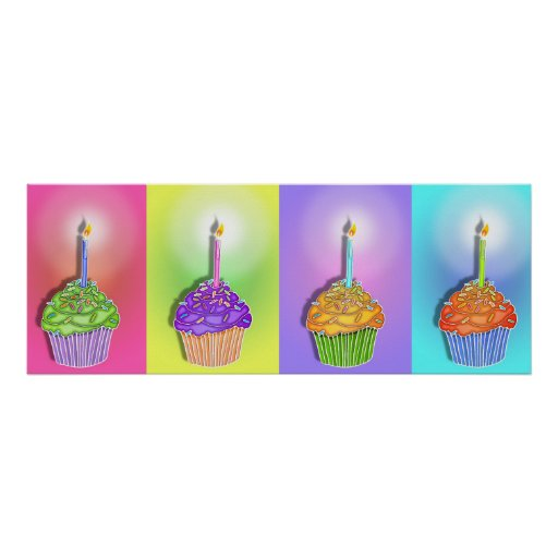 Posters, Banners - Birthday Cupcakes Poster