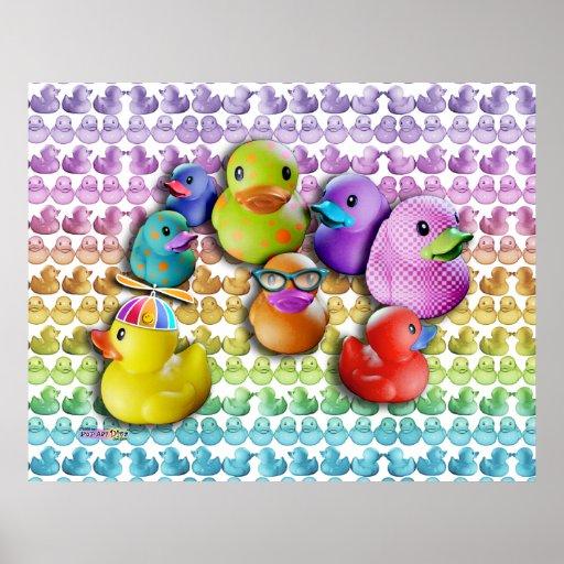 Posters & Fine Art Rubber Duckies Pop Art