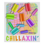 Posters, Prints - Chillaxin' Pop Art Popsicles