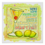 Posters, Prints - Lemon Drop Martini