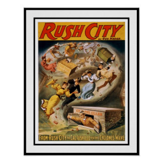 Posters Theater Vintage Rush City