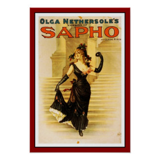 """Posters Theater Vintage """"Sapho"""" Print"""