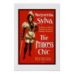 """Posters Theatre Vintage """"The Princess Chic"""""""