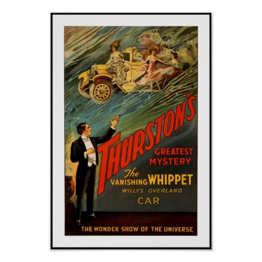 Posters Theatre Vintage Thurston Magican Car