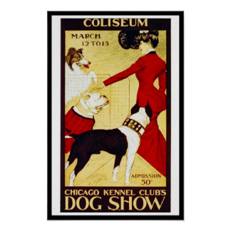 "Posters Vintage ""Dog Show"" Coliseun Print"