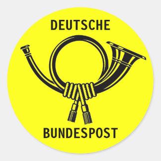 Posthorn DEUTSCHE BUNDESPOST yellow#1 Classic Round Sticker