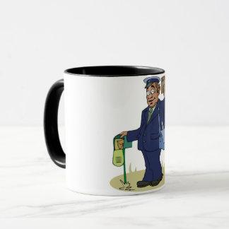 Postie Delivering Mug