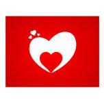 Postkarte rot Herz Postcard