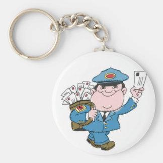 Postman Basic Round Button Key Ring