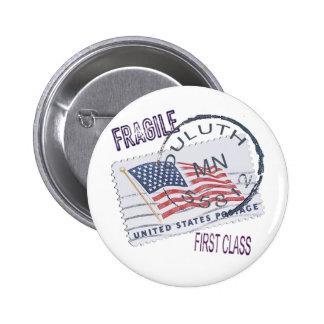 Postmark Duluth 55812 6 Cm Round Badge