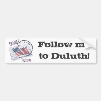 Postmark Duluth 55812 Bumper Stickers
