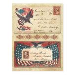 Postmarked Civil War envelopes with U.S. Flag