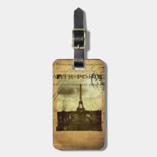 Postmarked Paris Luggage Tag