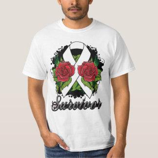Postpartum Depression Survivor Rose Grunge Tattoo T-Shirt