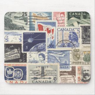 Postwar Canadian Postage Stamps Mouse Pad