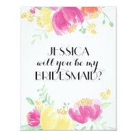 Posy Garden | Bridesmaid 4.25x5.5 Paper Invitation Card
