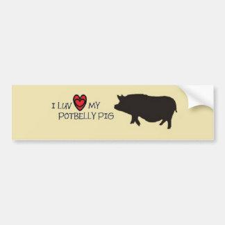 Pot belly Pig Bumper Sticker