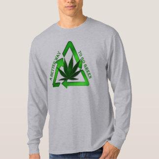 pot leaf better way to go green tshirt