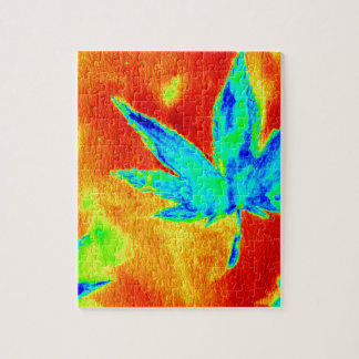 Pot Leaves In Heated Up Image Jigsaw Puzzle