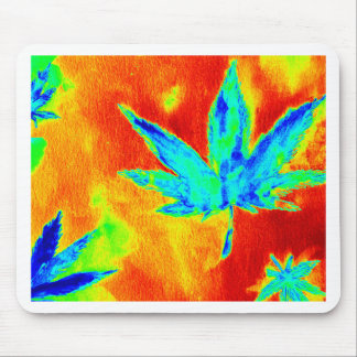 Pot Leaves In Heated Up Image Mouse Pads