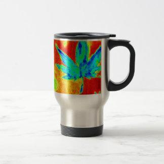 Pot Leaves In Heated Up Image Mug