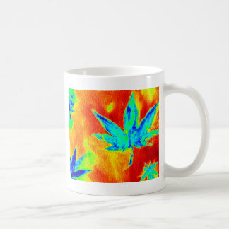 Pot Leaves In Heated Up Image Mugs