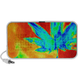 Pot Leaves In Heated Up Image Travelling Speaker