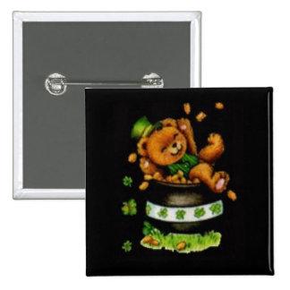 Pot of Bear 15 Cm Square Badge