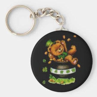 Pot of Bear Basic Round Button Key Ring