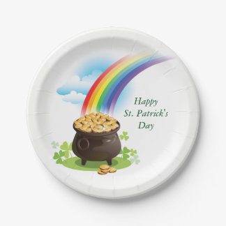 Pot of Gold 7 Inch Paper Plate