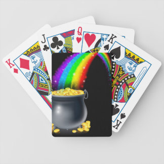 Pot of gold and rainbow bicycle poker deck